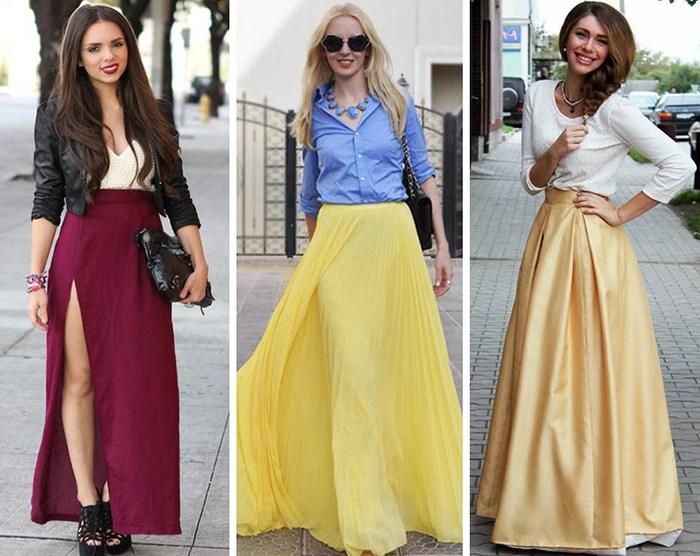 С чем носить длинную юбку летом, чтобы выглядеть элегантно
