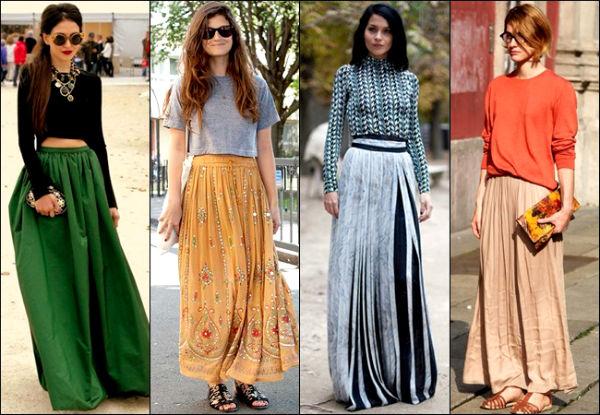 Длинная юбка и подходящая блузка
